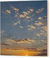 Margate Causeway Sunset Wood Print