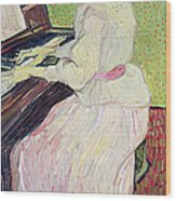 Marguerite Gachet At The Piano Wood Print