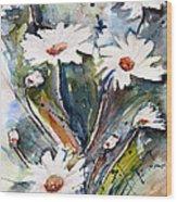 Marguerites Wood Print