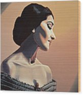Maria Callas Painting Wood Print