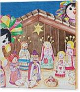 Maria Sofia And The Nativity Wood Print