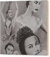 Maria Tallchief Wood Print by Amber Stanford