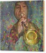 Mariachi Trumpet Player Wood Print