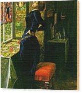 Mariana In The Moated Grange 1851 Wood Print
