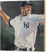 Mariano Rivera - New York Yankees Wood Print