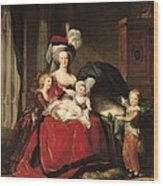 Marie Antoinette And Her Children Wood Print