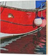 Marie F At The Harbour Wood Print