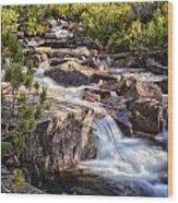 Marie Lakes Stream Wood Print