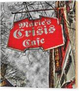 Marie's Crisis Cafe Wood Print