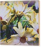 Marigold Blooms Wood Print
