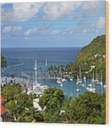 Marigot Bay Wood Print