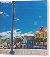 Marija Bistrica Square Colorful Panorama Wood Print
