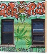 Marijuana 3 Wood Print