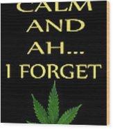 Marijuana 4 Wood Print