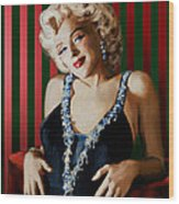 Marilyn 126 D Stripes Wood Print