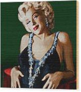 Marilyn 126 Green Wood Print