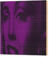 Marilyn And Mona Purple Wood Print