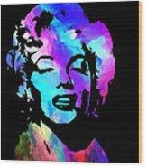 Marilyn Art Wood Print by Kenneth Feliciano