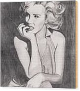 Marilyn Wood Print by Beverly Marshall