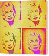 Marilyn Grew Up Wood Print