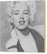 Marilyn. Wood Print