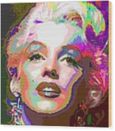 Marilyn Monroe 01 - Abstarct Wood Print