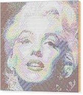 Marilyn Monroe 01 - Parallel Hatching Wood Print