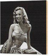 Marilyn Monroe Photo By J.r. Eyerman 1947-2014 Wood Print