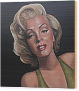 Marilyn Monroe 2 Wood Print by Paul Meijering