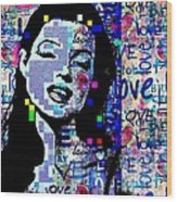 Marilyn Monroe 3 Loved.lost.loved Again Wood Print