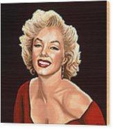 Marilyn Monroe 3 Wood Print by Paul Meijering