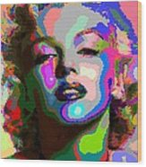 Marilyn Monroe - Abstract 1 Wood Print