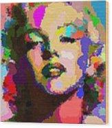 Marilyn Monroe - Abstract Wood Print