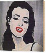 Marilyn Monroe Aka Norma Jean Artistic Impression Wood Print