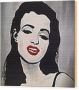 Marilyn Monroe Aka Norma Jean The Beginning Wood Print