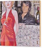 Marilyn Monroe And Elvis Wood Print
