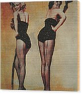 Marilyn Monroe And Jane Russell Wood Print