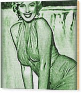 Marilyn Monroe And Niagara Wood Print