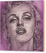 Marilyn Monroe In Pink Wood Print