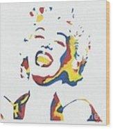 Marilyn Monroe Wood Print by Juan Molina