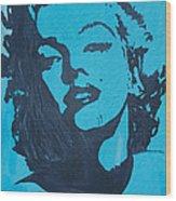 Marilyn Monroe Loves Batman Wood Print