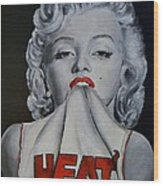 Marilyn Monroe Miami Heat Wood Print by S G Williams