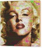 Marilyn Monroe Name Characters Wood Print