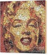 Marilyn Monroe On The Way Of Arcimboldo Wood Print