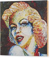 Marilyn Monroe Original Palette Knife Painting Wood Print