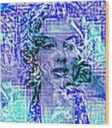 Marilyn Monroe Out Of The Blue Wood Print