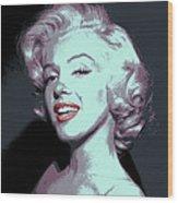 Marilyn Monroe Pop Art Wood Print by Daniel Hagerman
