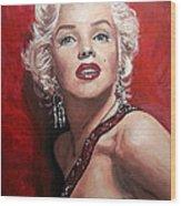 Marilyn Monroe - Red Wood Print