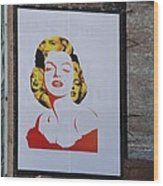 Marilyn Monroe Wood Print by Rob Hans