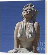 Marilyn Monroe Statue 2 Wood Print